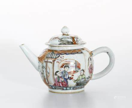 Chinese Export Famille Rose Teapot and Cover