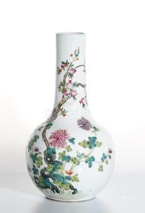 Chinese Famille Rose Bottle Vase