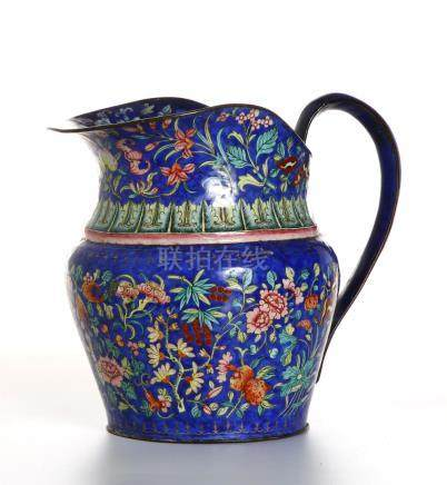 Chinese Canton Enamel Basin and Pitcher,Christie's