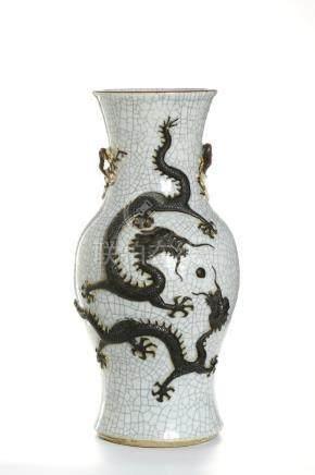 Chinese Ge Type Baluster 'Dragon' Vase