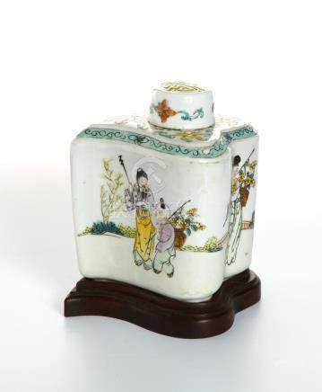 Chinese Famille Rose Jar and Cover