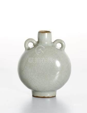 Rare Chinese Lungchuan Celadon Guan-Type Moonflask
