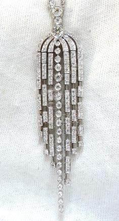 3.50CT DIAMONDS DANGLING CHANDELIER PENDANT STATION
