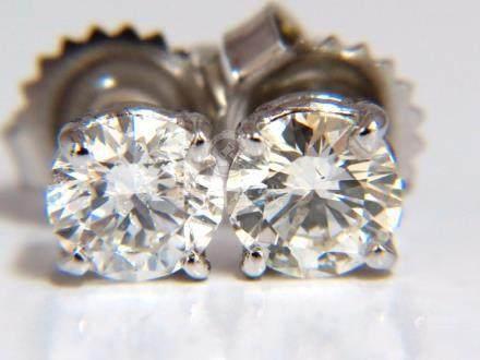 1.47CT BRILLIANT FULL CUT CLASSIC DIAMOND STUD EARRINGS