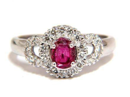 GIA CERTIFIED 1.31CT NATURAL NO HEAT RUBY DIAMOND RING