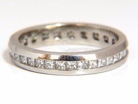 1.20CT PRINCESS DIAMONDS ETERNITY BAND RING 14KT G/VS