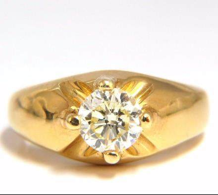 .82CT NATURAL FANCY LIGHT YELLOW DIAMOND VICTORIAN 18KT