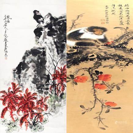 LU GUANG ZHAO, ZHANG XIANG YANG, CHINESE PAINTING