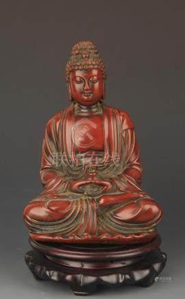 A FINE MEDICINE BUDDHA SAKYAMUNI STATUE