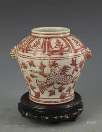 A YOU LI HONG PHOENIX PAINTING PORCELAIN JAR