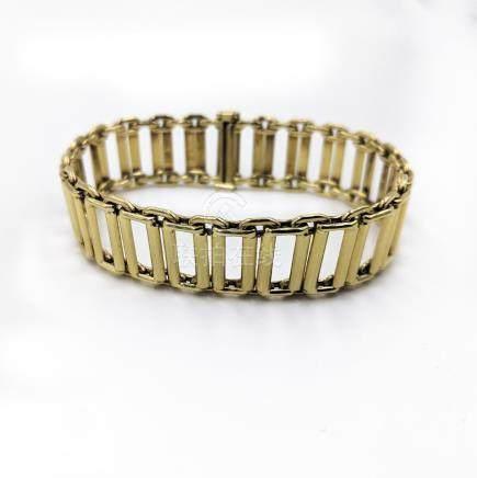 Rectangular Open Link Bracelet