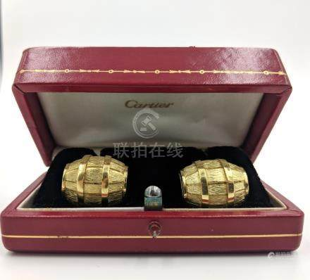 Cartier Barrel Cufflinks