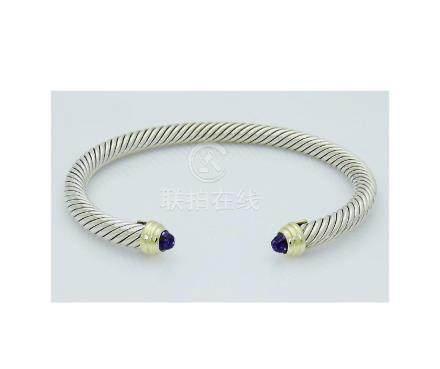 David Yurman 925 Sterling Silver&14K Gold Cable 5mm