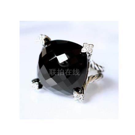 David Yurman Sterling Silver Chatelaine Black Onyx 15mm