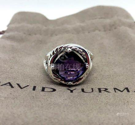 David Yurman Sterling Silver Infinity 11mm Amethyst