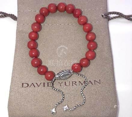 David Yurman Sterling Silver Spiritual Carnelian 8mm