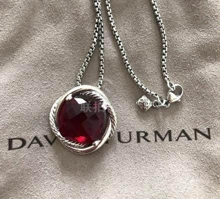 David Yurman Sterling Silver Infinity 14mm Garnet