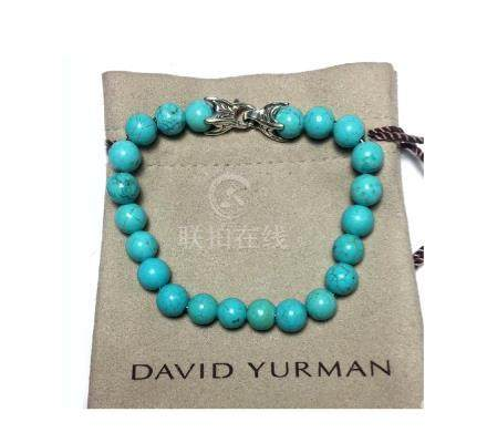 David Yurman Sterling Silver Spiritual Turquoise Beaded