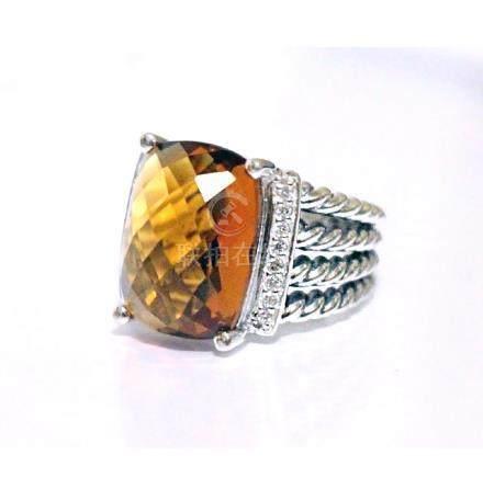 David Yurman 925 Sterling Silver Wheaton Ring with