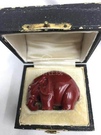 RUSSIAN DENISSOFF OURALSKY PURPURINE & DIAMOND ELEPHANT