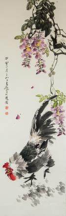 Wang Xuetao 1903-1982 Chinese Watercolor Roll