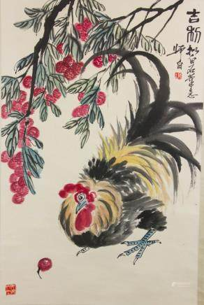 Lou Shibai 1918-2010 Chinese Watercolor Scroll