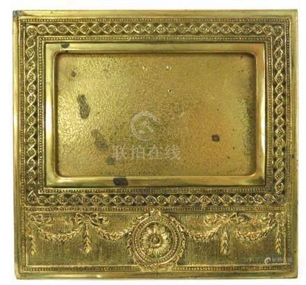 "Tiffany Studios gilt bronze calendar frame, early 20th C., """