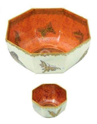 "Two Wedgwood ""Fairyland"" butterfly lustre bowls, Staffordshi"