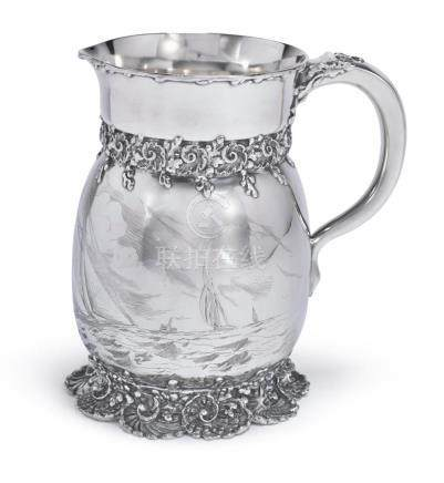AN AMERICAN SILVERYACHTING PITCHER, TIFFANY & CO., NEW YORK