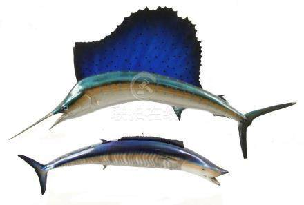 2) FIBERGLAS FISH MOUNTS