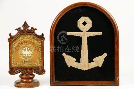 ENGLISH DESK CALENDAR & FRAMED PAPER ANCHOR