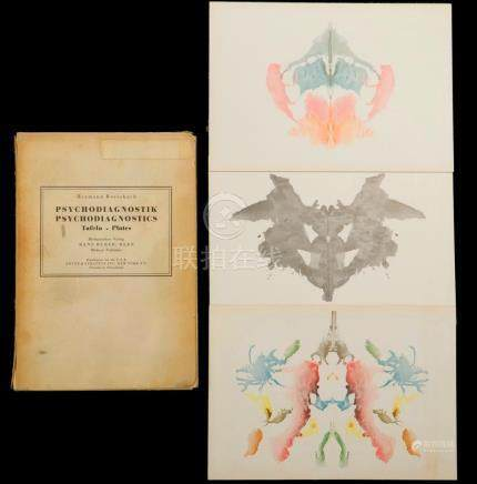 RARE SET OF RORSCHACH INK BLOT TEST CARDS