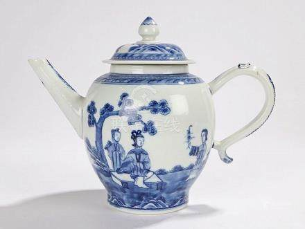 19th Century Chinese teapot, the finial topped lid above a b