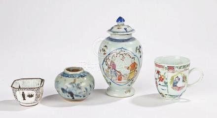 Jiaqing Chinese enamel jar, the lidded jar of baluster shape