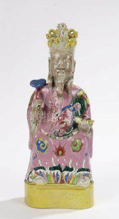 19th Century Chinese figure, depicting an immortal wearing a