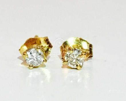 14k Gold Diamond Studs 1/4 carat diamond