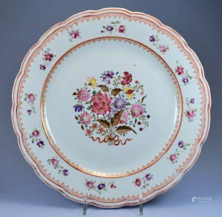 CHINESE QIANLONG PORC PLATE CA. 18TH C
