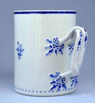 CHINESE PORC ARMORIAL TANKARD 18TH C