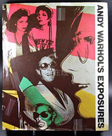 EXPOSURES BOOK ANDY WARHOL FIRST ED SIGNED AND