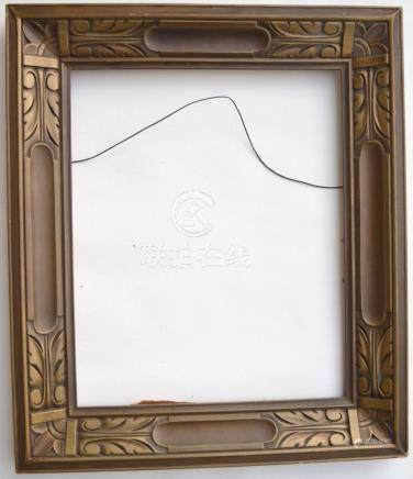 BRONZE GILT CARVED FRAME