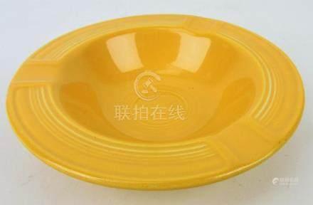 Fiesta ashtray, yellow