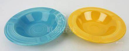 Fiesta ashtrays, turquoise and