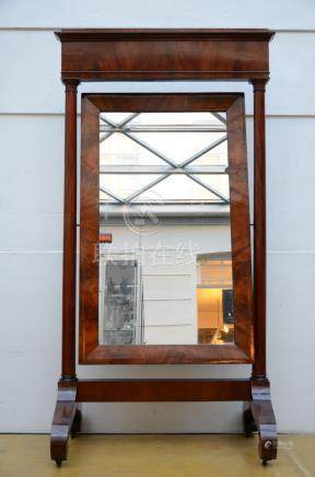 A large Empire mirror in mahogany (114x220cm)