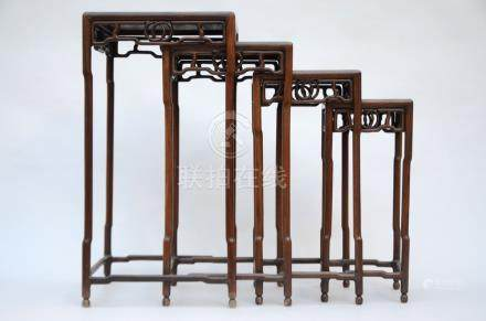Chinese table set in hard wood (72cm)