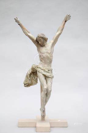 A wooden sculpture of Christ, 17th - 18th century (68cm)