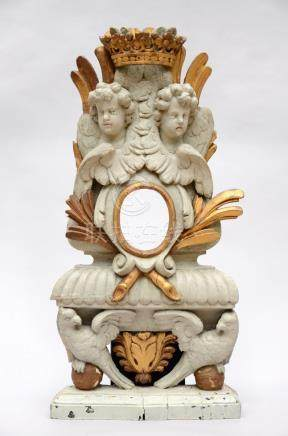 A wooden relic holder, Baroque period (40x77cm)