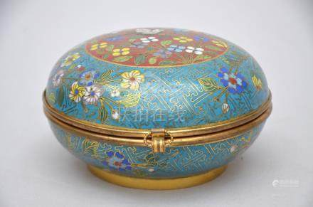 Lidded pot in Chinese cloisonnÈ 'bird', 19th - 20th century (14x7cm)