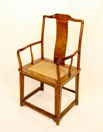 A HUANGHUALI'SOUTHERN OFFICIAL'S HAT' ARMCHAIR,NANGUANMAOYI (Y)