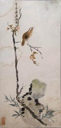 ZHANG DAQIAN (1899-1983), BIRD AND FLOWER