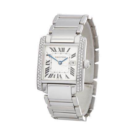 2000 Cartier Tank Francaise 18K White Gold - 2491 or WE1018S3